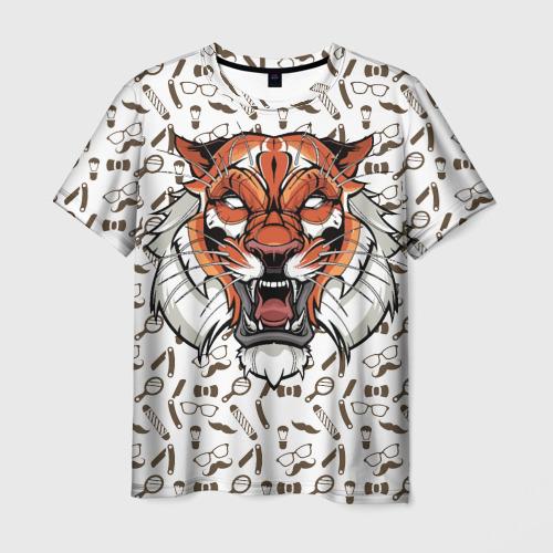 Мужская футболка 3D  Фото 03, Барбер ТИГР