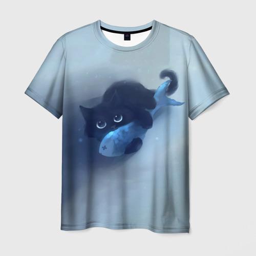 Мужская футболка 3D  Фото 01, Рыбка