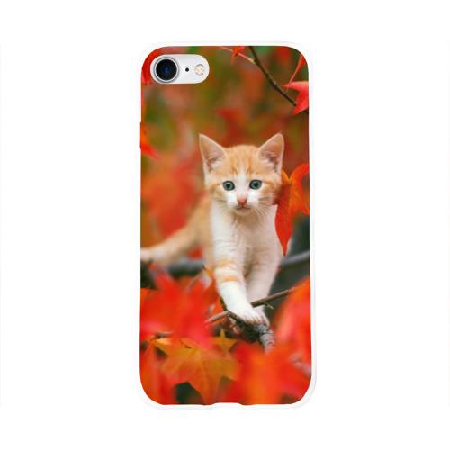 Чехол для Apple iPhone 8 силиконовый глянцевый  Фото 01, Листья