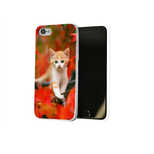Чехол для Apple iPhone 8 силиконовый глянцевый  Фото 02, Листья