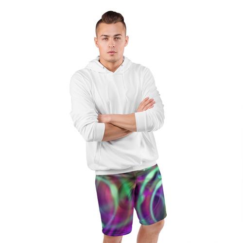 Мужские шорты 3D спортивные Оптические линии