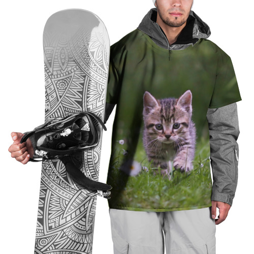 Накидка на куртку 3D  Фото 01, Котенок на траве