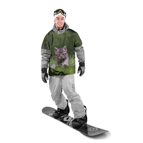 Накидка на куртку 3D  Фото 03, Котенок на траве