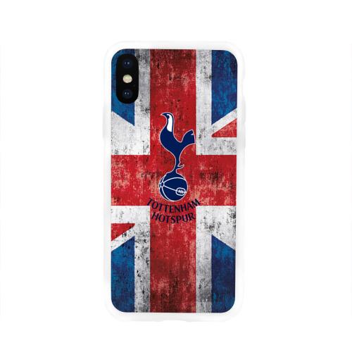 Чехол для Apple iPhone X силиконовый глянцевый Tottenham №1!