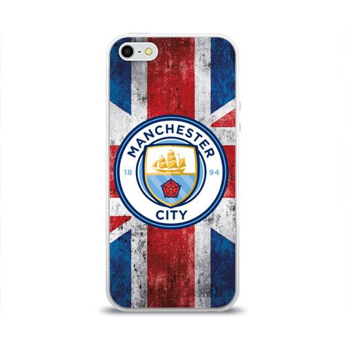 Чехол для Apple iPhone 5/5S силиконовый глянцевый Manchester city 1894