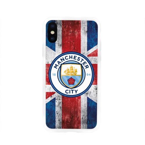 Чехол для Apple iPhone X силиконовый глянцевый Manchester city 1894