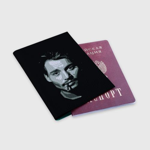 Обложка для паспорта матовая кожа  Фото 03, Джонни Депп