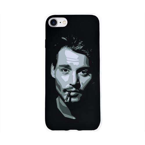 Чехол для Apple iPhone 8 силиконовый глянцевый  Фото 01, Джонни Депп
