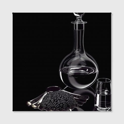 Холст квадратный  Фото 02, Водка и черная икра