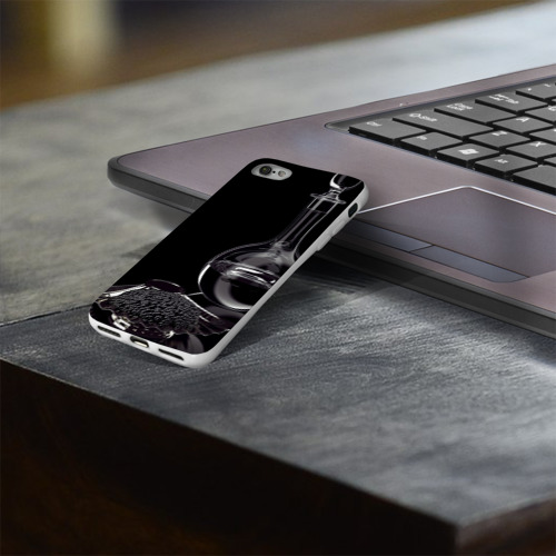 Чехол для Apple iPhone 8 силиконовый глянцевый  Фото 03, Водка и черная икра