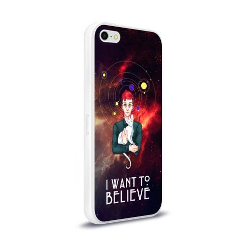 Чехол для Apple iPhone 5/5S силиконовый глянцевый  Фото 02, I want to believe