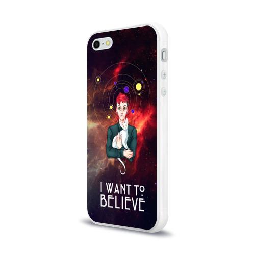 Чехол для Apple iPhone 5/5S силиконовый глянцевый  Фото 03, I want to believe