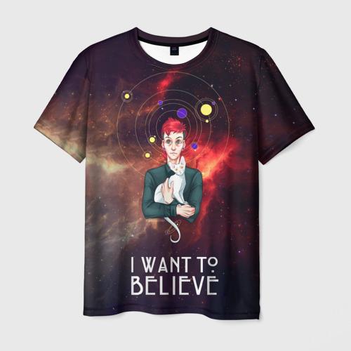 Мужская футболка 3D  Фото 03, I want to believe