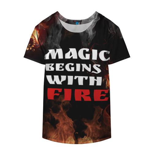 Накидка на куртку 3D  Фото 04, Волшебство начинается с огня