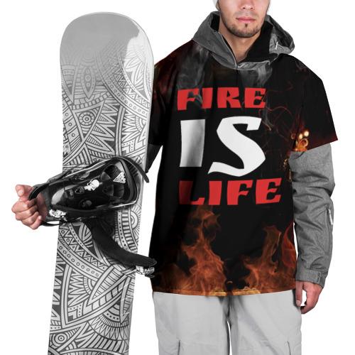 Накидка на куртку 3D  Фото 01, Fire is life (Огонь это жизнь)