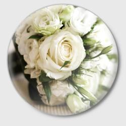 Букет цветы белые розы