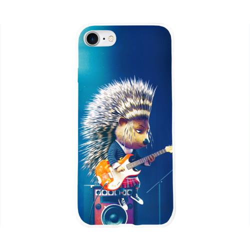 Чехол для Apple iPhone 8 силиконовый глянцевый  Фото 01, Животный рок