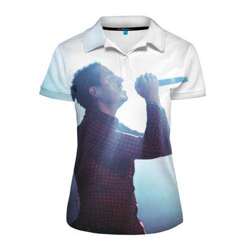 Женская рубашка поло 3D chester bennington