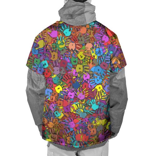 Накидка на куртку 3D  Фото 02, Разноцветные отпечатки рук