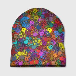 Разноцветные отпечатки рук