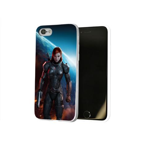 Чехол для Apple iPhone 8 силиконовый глянцевый  Фото 02, Mass Effect