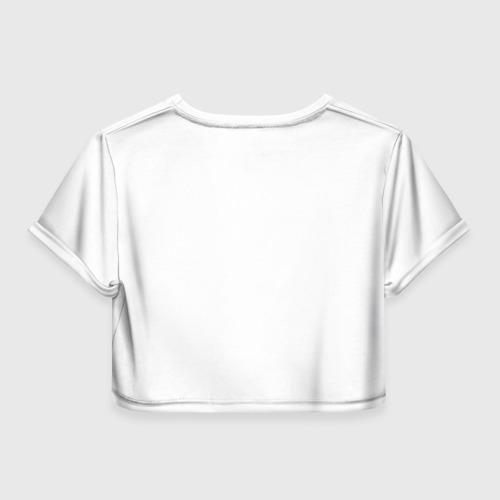 Женская футболка 3D укороченная  Фото 02, Цветные брызги