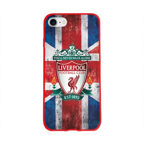 Чехол для Apple iPhone 8 силиконовый глянцевый Ливерпуль ФК