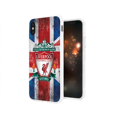Чехол для Apple iPhone X силиконовый глянцевый  Фото 03, Ливерпуль ФК