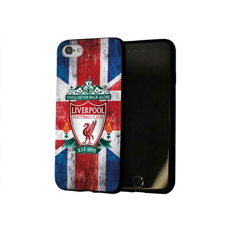 Чехол для Apple iPhone 8 силиконовый глянцевый Ливерпуль ФК Фото 01