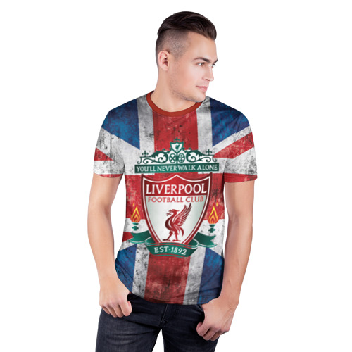 Мужская футболка 3D спортивная Ливерпуль ФК Фото 01