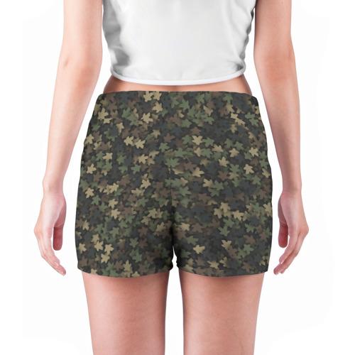 Женские шорты 3D  Фото 04, Камуфляж с миплами