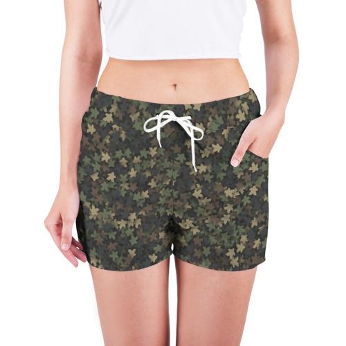 Женские шорты 3D  Фото 03, Камуфляж с миплами