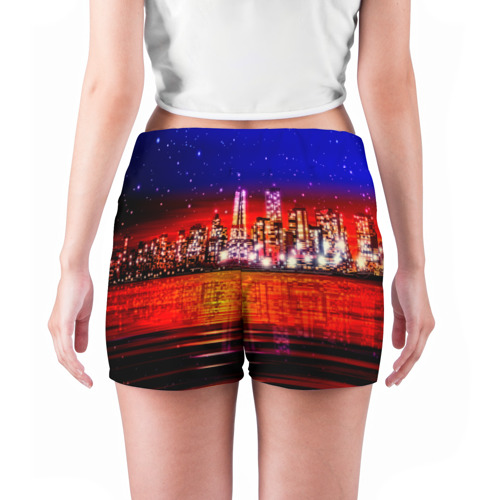Женские шорты 3D  Фото 04, Ночной город