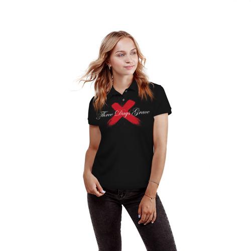 Женская рубашка поло 3D  Фото 03, Three Days Grace