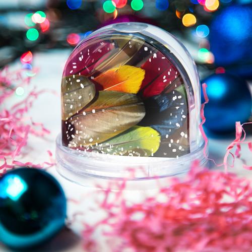 Водяной шар со снегом  Фото 03, Перья