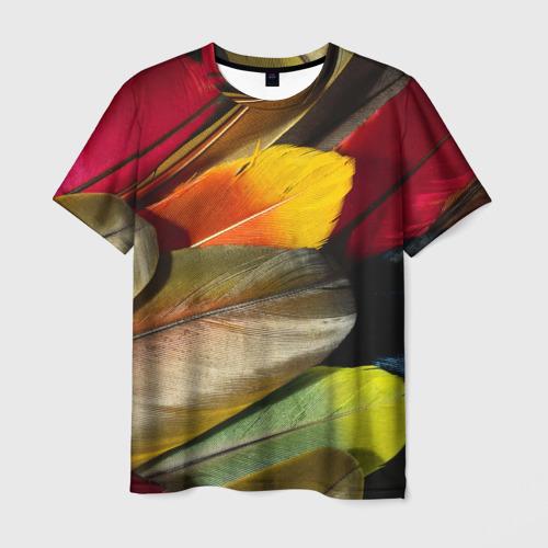 Мужская футболка 3D  Фото 03, Перья