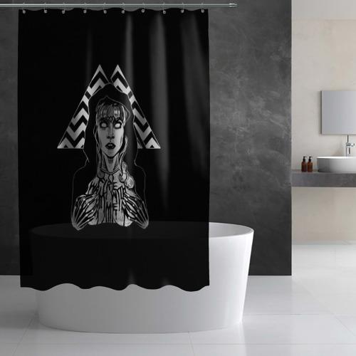 Штора 3D для ванной Twin Peaks Фото 01