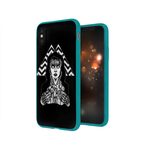 Чехол для Apple iPhone X силиконовый глянцевый Twin Peaks Фото 01