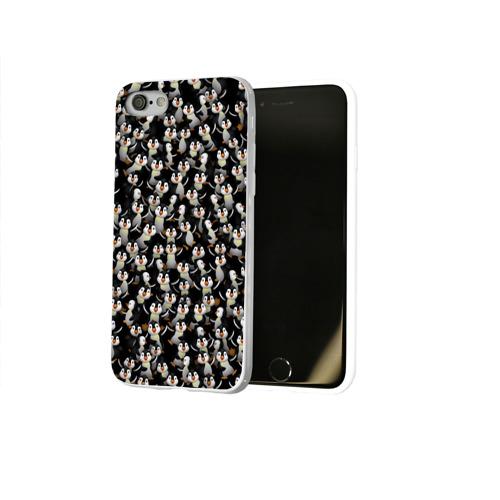 Чехол для Apple iPhone 8 силиконовый глянцевый  Фото 02, Дурацкие пингвины