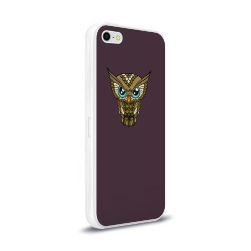 Чехол для Apple iPhone 5/5S силиконовый глянцевый  Фото 02, Owl