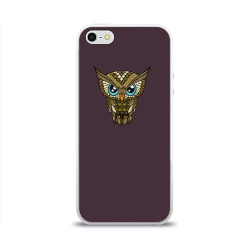Чехол для Apple iPhone 5/5S силиконовый глянцевый  Фото 01, Owl