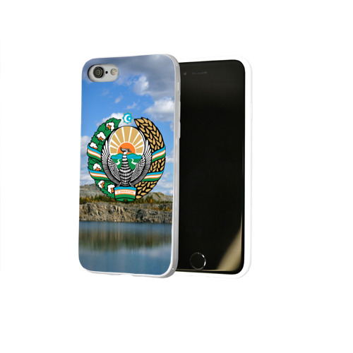 Чехол для Apple iPhone 8 силиконовый глянцевый  Фото 02, Узбекистан