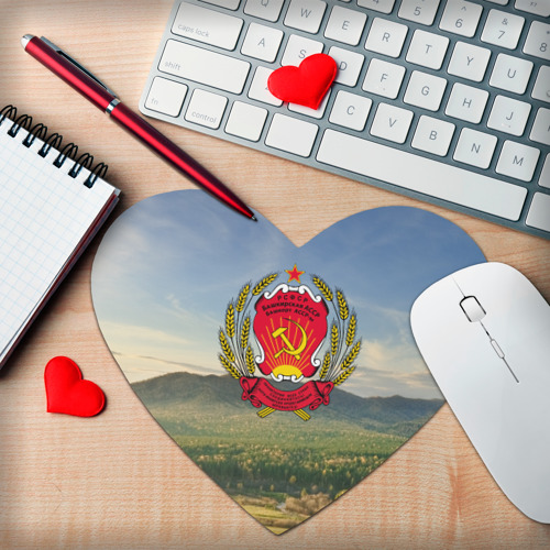 Коврик сердце  Фото 02, Советский герб Башкортостана
