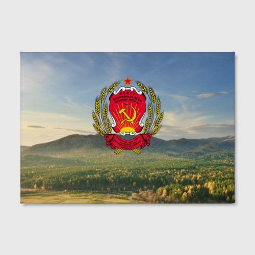 Холст прямоугольный  Фото 02, Советский герб Башкортостана