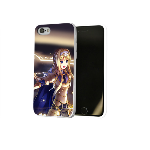 Чехол для Apple iPhone 8 силиконовый глянцевый  Фото 02, Alice Schuberg_1