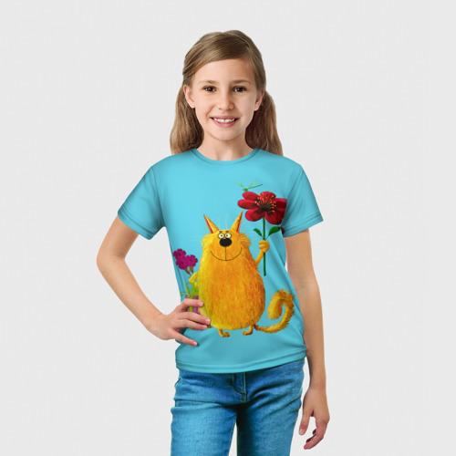 Детская футболка 3D  Фото 03, Кот
