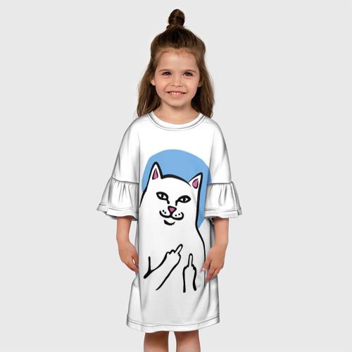 Детское платье 3D  Фото 01, Дерзкий кот