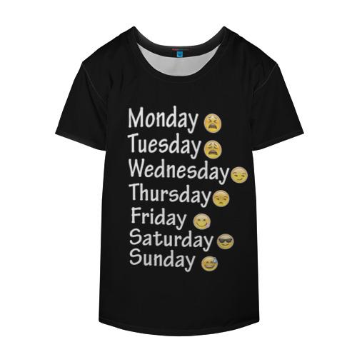 Накидка на куртку 3D  Фото 04, футболка настроение дни недели