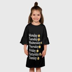 футболка настроение дни недели
