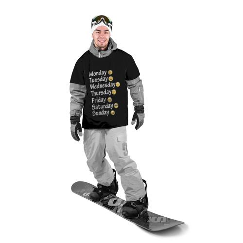 Накидка на куртку 3D  Фото 03, футболка настроение дни недели